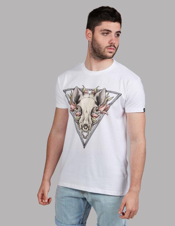 5743dee46 Cráneo gato dibujo Camiseta