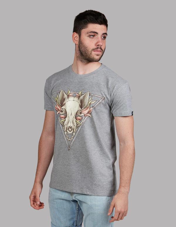 4fef7c2f8 Moda hombre camiseta gato calavera