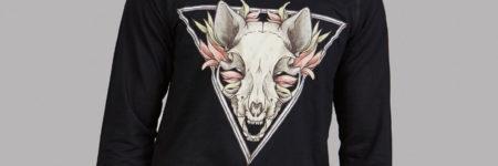 """Sudadera negra Sphynx """"Sfhynx Skull"""""""