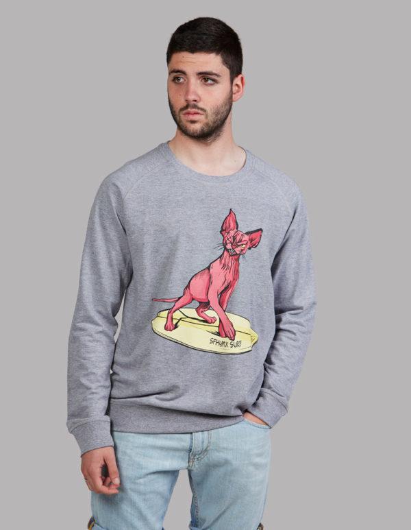 2d2a08b031cf7 Surf Sudadera con dibujo gato surfero
