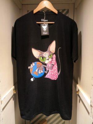"Camiseta ""Sfhynx world"" negro hombre"