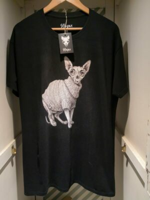 "Camiseta ""Sfhynx vanitas"" negro hombre"