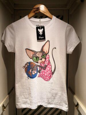 "Camiseta ""Sfhynx world"" blanco mujer"
