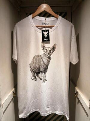 "Camiseta ""Sfhynx vanitas"" blanco hombre"