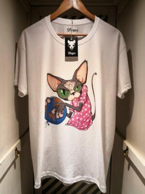 "Camiseta ""Sfhynx world"" blanco hombre"