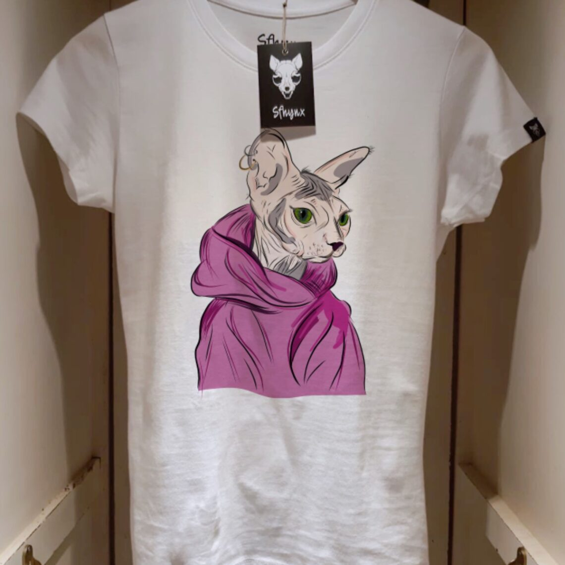 "Camiseta ""Sphynx Super Woman"" mujer"